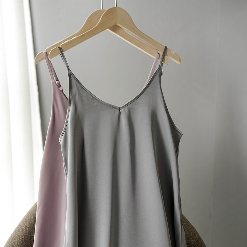 Women's Basic Satin Dress