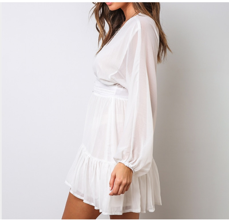 Women's Deep-V Mini Dress